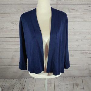 Faded Glory Womens Large 12-14 Cardigan Blue
